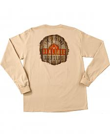 Realtree Men's Sand Brown Get Outdoors Long Sleeve T-Shirt