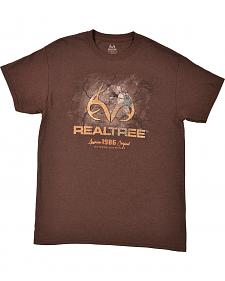 "Realtree Men's Brown ""Cracked Ground"" Logo T-Shirt"