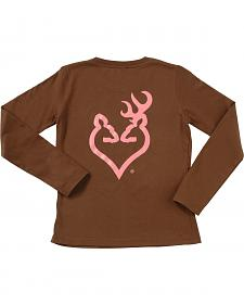 Browning Women's Brown Buckheart Long Sleeve T-Shirt