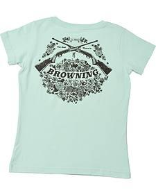 Browning Women's Light Blue Rifle Bouquet T-Shirt