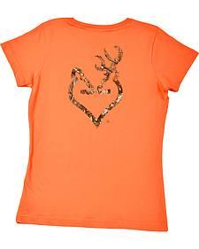 Browning Women's Orange Mo Country Buckmark T-Shirt