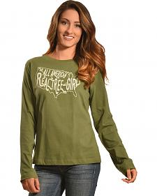 Realtree Girl Olive All-American Long Sleeve T-Shirt