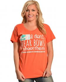"Browning Women's Orange ""I Don't Wear Bows"" T-Shirt"