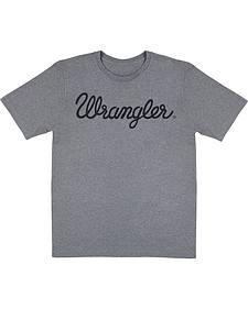 Wrangler Men's Grey Logo T-Shirt