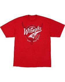 Wrangler Men's Red Wrangler 47 Logo T-Shirt