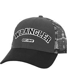 Wrangler Men's Grey Camo Logo Cap