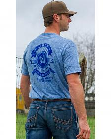 Cinch Men's Blue Screen Print Logo T-Shirts