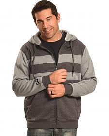 Hooey Men's Men's Zip-Up Grey Stripe Hoodie