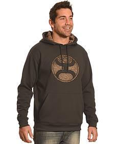 Hooey Men's Men's Pullover Black Camo Logo Hoodie