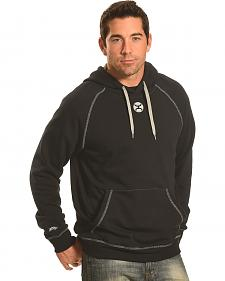 Hooey Men's Grey Pullover Black Reflective Logo Hoodie