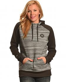 Hooey Women's Black and Grey Raglan Hoodie