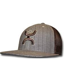 Hooey Men's Brown Stripe Trucker Hat