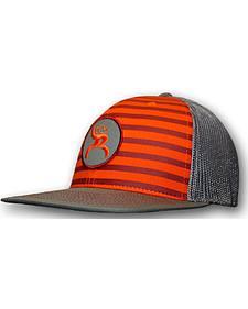 """HOOey Men's Roughy """"Chute"""" Orange Striped Trucker Hat"""