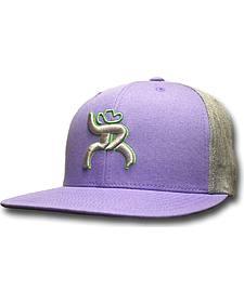 """HOOey Men's Roughy """"Hawk"""" Purple Trucker Hat"""