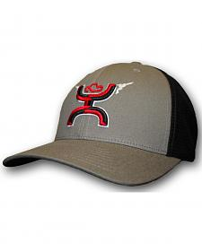 Hooey Boys' Youth Grey Gunner FlexFit Hat