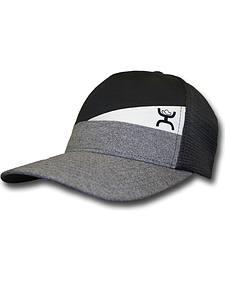 Hooey Men's Black and Grey Slope Trucker Hat