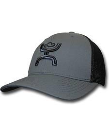 Hooey Men's Chi Grey and Black Snapback Trucker Hat
