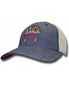HOOey Girls' Blue Indian Feather Trucker Hat
