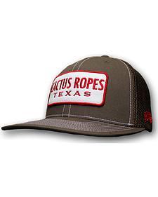 Hooey Cactus Ropes Brown Patch Trucker Cap