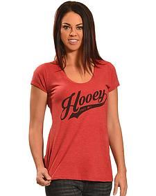 Hooey Women's Red Script Logo T-Shirt
