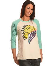 Hooey Women's Indian Feather Baseball T-Shirt