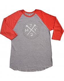 Hooey Men's Grey HY72 Baseball T-Shirt