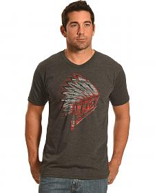 Hooey Men's Heather Grey Head Dress Logo T-Shirt