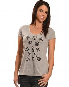 Hooey Women's Grey Branding Irons T-Shirt