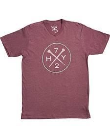 Hooey Men's Purple HY72 V-Neck T-Shirt