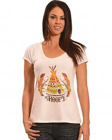Hooey Women's Cream Teepee T-Shirt