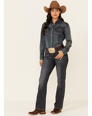 "Wrangler Jeans - Aura Instantly Slimming Denim Jeans - 30""-34"""