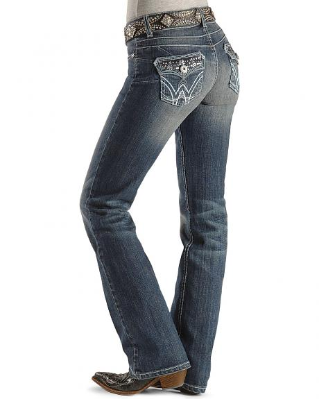 Sheplers Exclusive - Wrangler Premium Patch Booty Up Midnight Sparkle Jeans