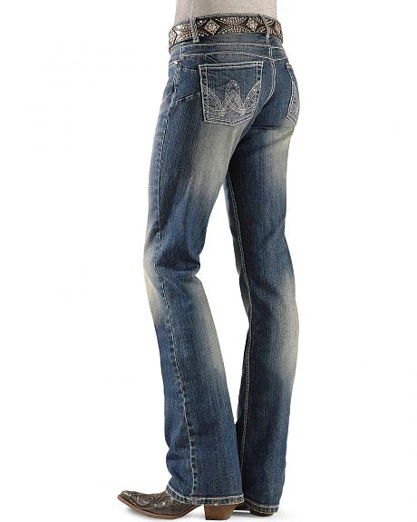 Sheplers Exclusive - Wrangler Booty Up Embellished Pocket Jeans - 32