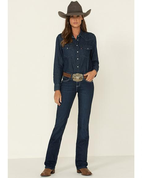 Wrangler Q-Baby Dark Wash Ultimate Riding with Booty Up Technology Jeans
