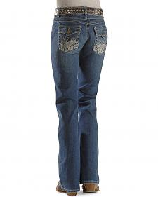 Sheplers Exclusive - Wrangler Booty Up Embroidered Flap Pockets Jeans