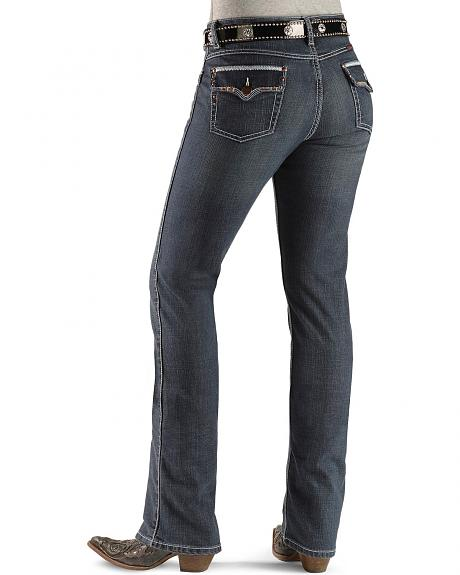 Wrangler Jeans - Q-Baby Rhinestone Embellished Ultimate Riding Jeans - 32