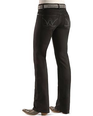 "Wrangler Jeans - Booty Up Black Wash - 30""-36"""