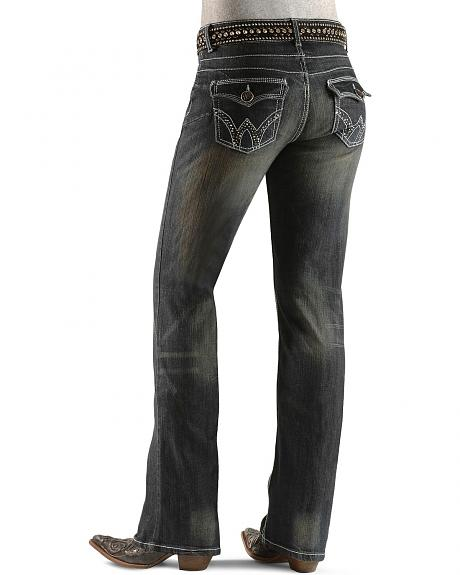 Sheplers Exclusive - Wrangler Booty Up Back Flap Embellished Pocket Jeans