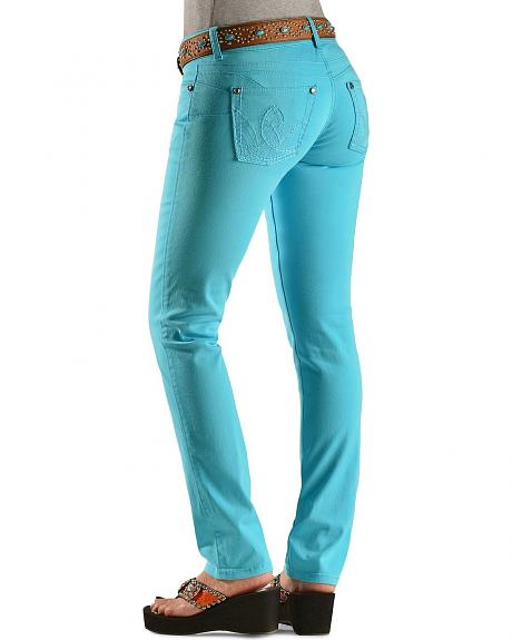 Wrangler Booty Up Turquoise Skinny Jeans