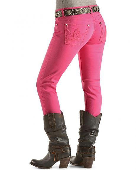 Wrangler Booty Up Hot Pink Skinny Jeans