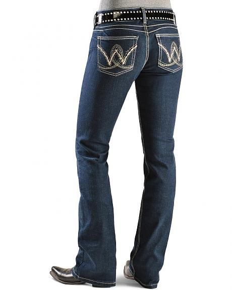 Wrangler Booty Up Jeans - Embroidered Pocket Dark Wash - 30
