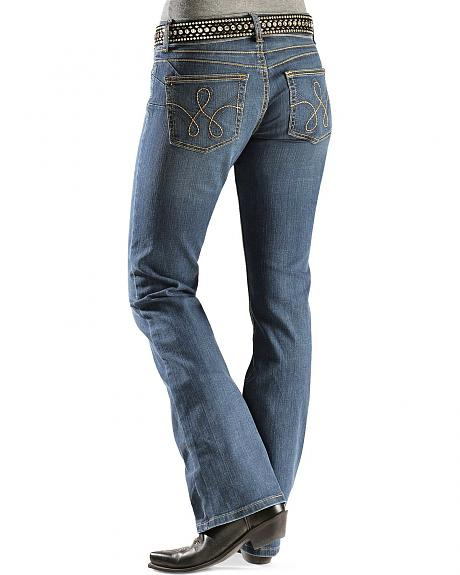 Wrangler Booty Up Rope Stitched Back Pocket Jeans