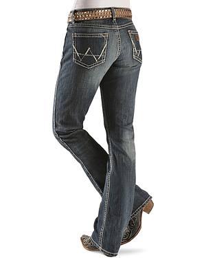 "Wrangler Jeans - Antique Denim Mae Premium Patch Jeans - 30""-36"""