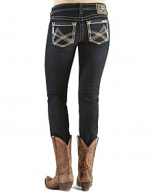 "Ariat Women's Onyx Double Stitched ""A"" Big Sky Skinny Jeans"
