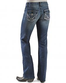 Wrangler Premium Patch Booty Up Jeans - Low Rise Boot Cut