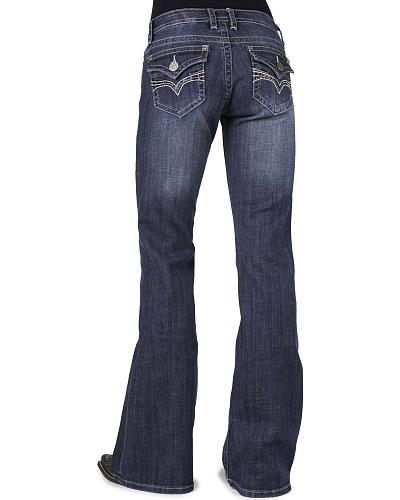 Stetson Womens 816 Classic Fit Flap V-Pocket Bootcut Jeans Western & Country 11-054-0816-0720 BU