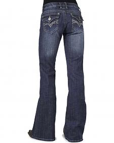 Stetson Women's 816 Classic Fit Flap V-Pocket Bootcut Jeans