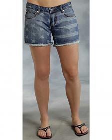 Roper Denim Boyfriend Star Print Shorts