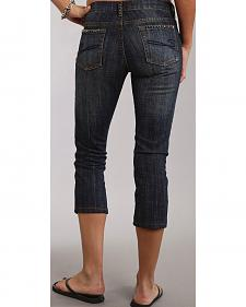 Stetson 541 Stovepipe Cropped Studded Jeans