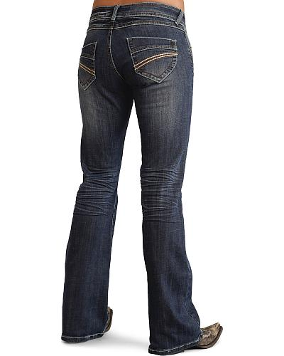 Stetson Womens 816 Classic Fit Thick Stitch Bootcut Jeans Western & Country 11-054-0816-1201 BU
